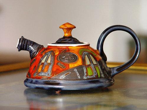 Керамика,подарок из керамики,керамический чайник,роспись чайника,сувениры из керамики,OvLGroup,