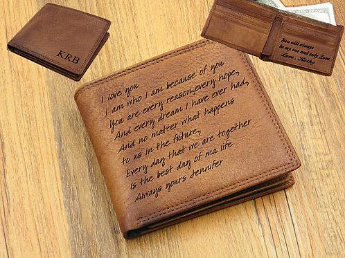 портмоне из кожи ручной работы, кошелёк в подарок,