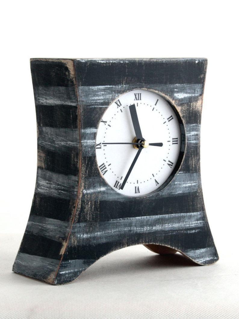 часы ручной работы, винтажные часы, оригинальные часы на камин.