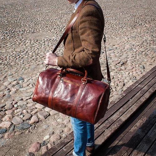 дорожная сумка, купить кожаную сумку ручной работы от мастера из Литвы, OvLGroup,