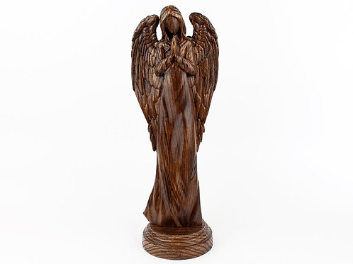 скульптура из дерева ручной работы, купить скульптуру ручной работы, ангел , агентство OvLGroup,