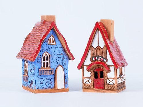 OvLGroup, керамические домики , домик для благовоний, домик подсветчник, интерьер , глина, купить подарок, подарить подарок,