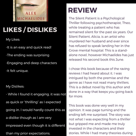 The Silent Patient Book Review