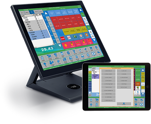 quick service pos monitor and tablet