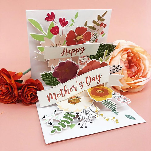 Mothers Day Pop Out Greeting Card- Floral