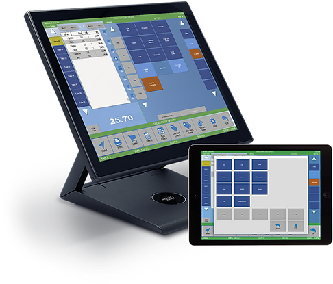 coffee shop pos monitor and tablet