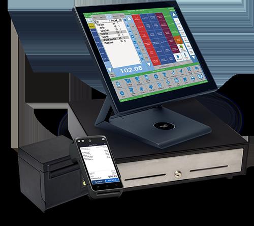 restaurant pos monitor cash drawer printer