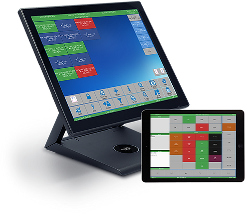 pizza pos monitor and tablet