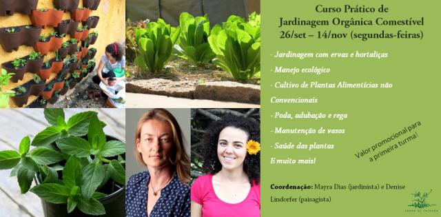 curso de jardinagem orgânica na sabor de fazenda
