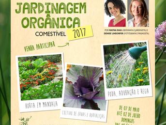 Venha participar do Curso Prático de Jardinagem Orgânica 2017