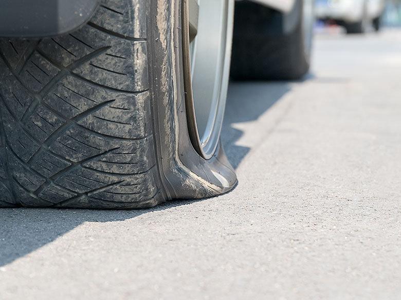 Flat Tire At Shop