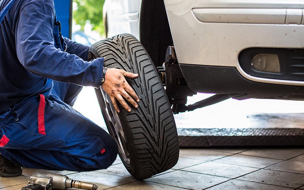 Seasonal Tire Change Over At Shop