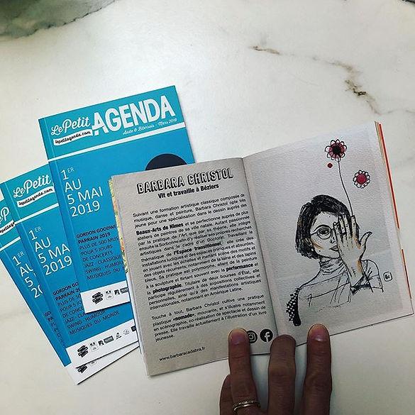Portfolio d'artiste du mois, Le Petit Agenda mars 2019