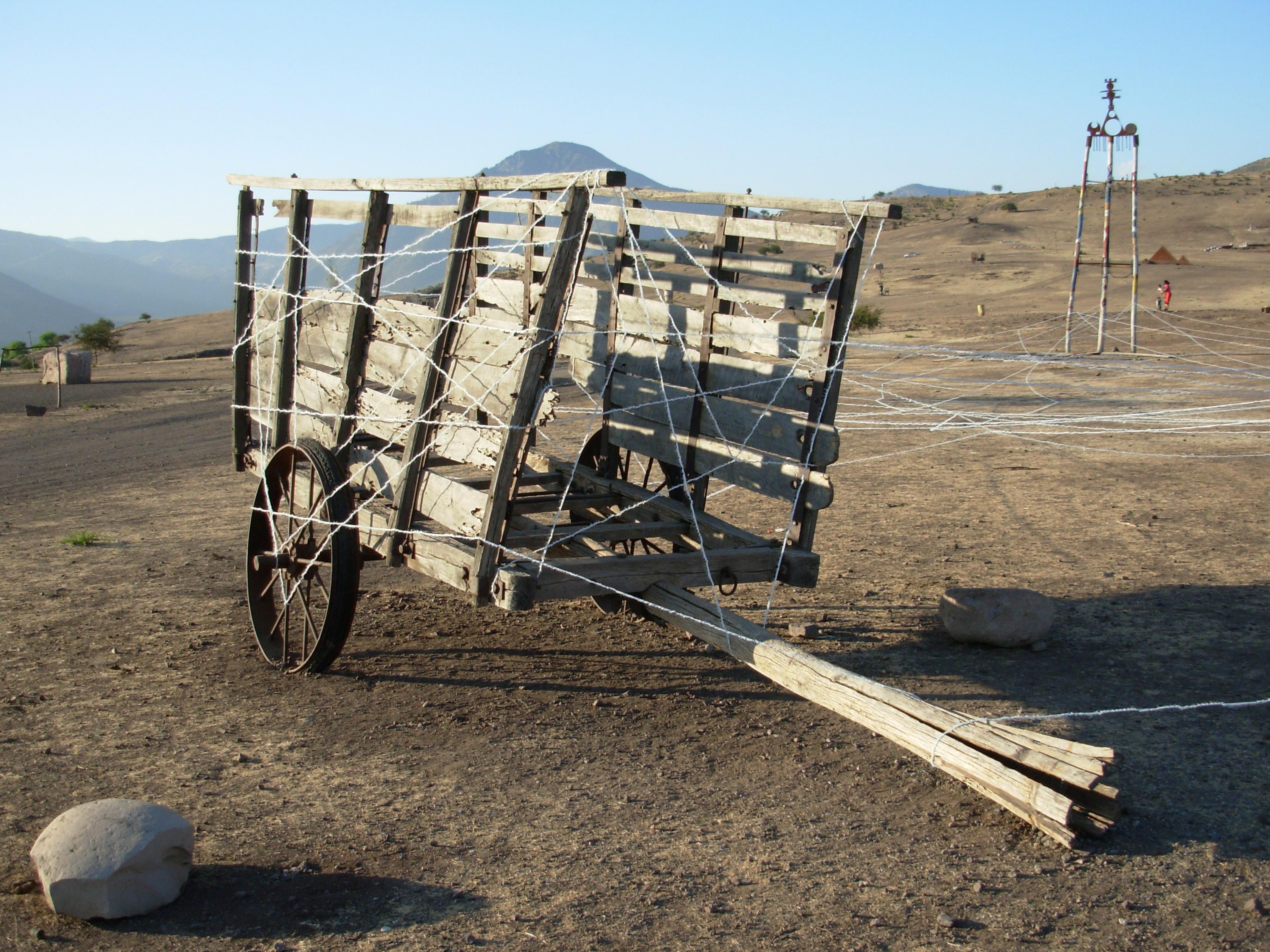 Charrette sur le Llano
