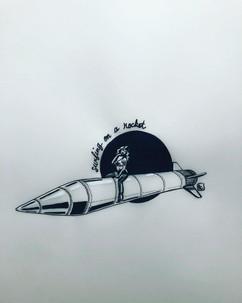 """""""Surfing on a rocket"""", Air pour le thème"""