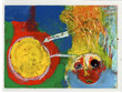 2006,boy in space, 10x15cm, mix media on
