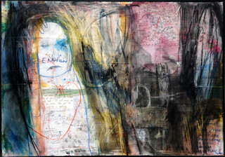 2008, He, out of his place, 100x70cm, mi