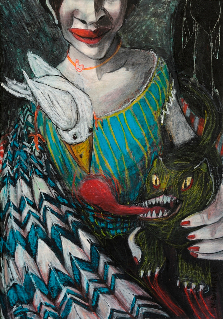 Portrait No.30,Uninterrupted Stare ,Daemons by Nina Sumarac at The State Gallery of Contemporary  Cyprus Art,