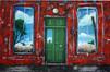 2003, red wall-green door, 165x110cm.jpg