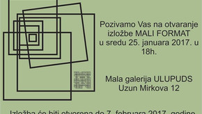 Small works at Small gallery of ULUPUDS, Belgrade