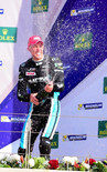 Young celebrates after a strong podium in Bahrain Nov 2017
