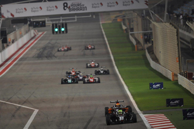 Young in the lead under the lights in Bahrain Dec 2019