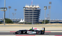 Young negotiating Turns 5 & 6 at the Bahrain F1 Circuit Nov 2017