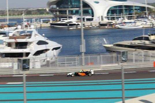 Young testing for the Sahara Force India F1 Team's Junior GP3 Team at the Yas Marina F1 Circuit, Abu Dhabi Nov 2014