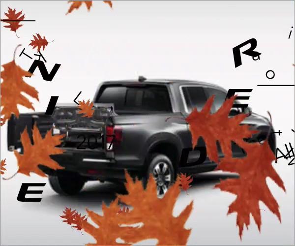 2017 Honda Ridgeline Digital Display Ads