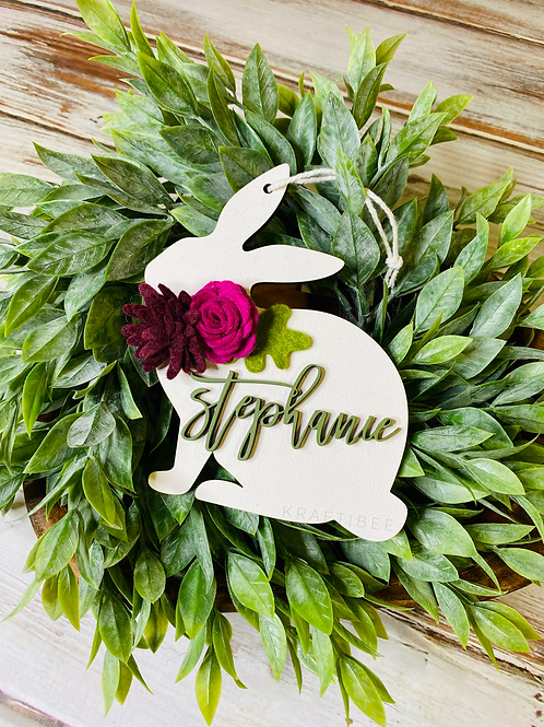 Floral Bunny Tags