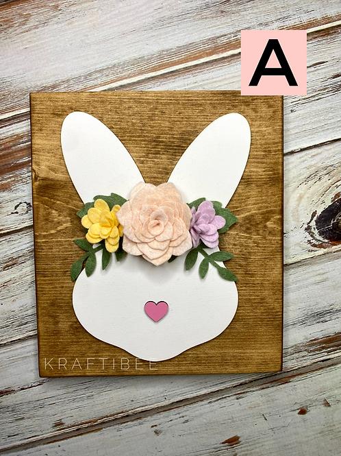 Bunny withFelt Flower Crown