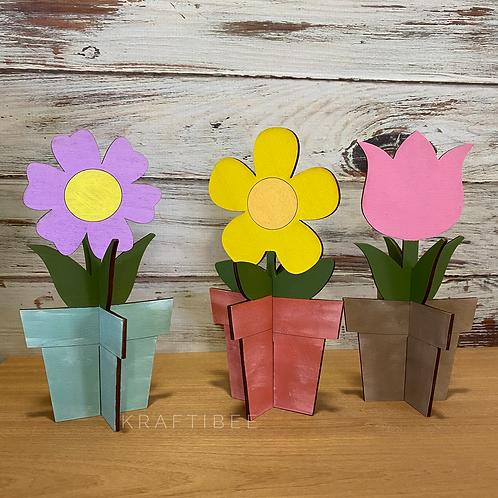 Spring Flowers Trio