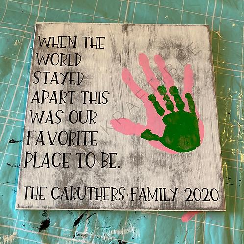 DIY Family Sign