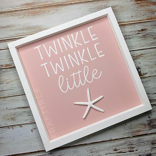 Pink Twinkle Twinkle Little Star Sign