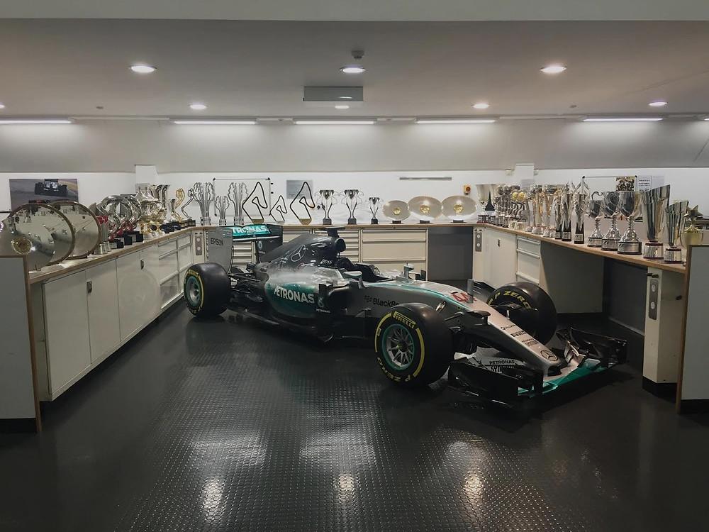 Mercedes F1 trophies