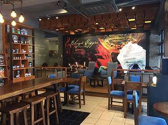 Cozy interios of Davao's BluGre unique coffeeshop franchise