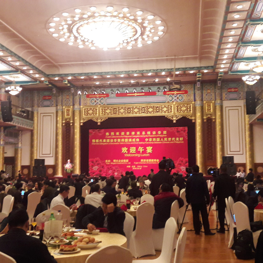 Welcome Luncheon for Filipino delegation to China