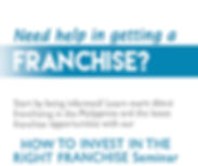 Seminar on Investing in the right franchise