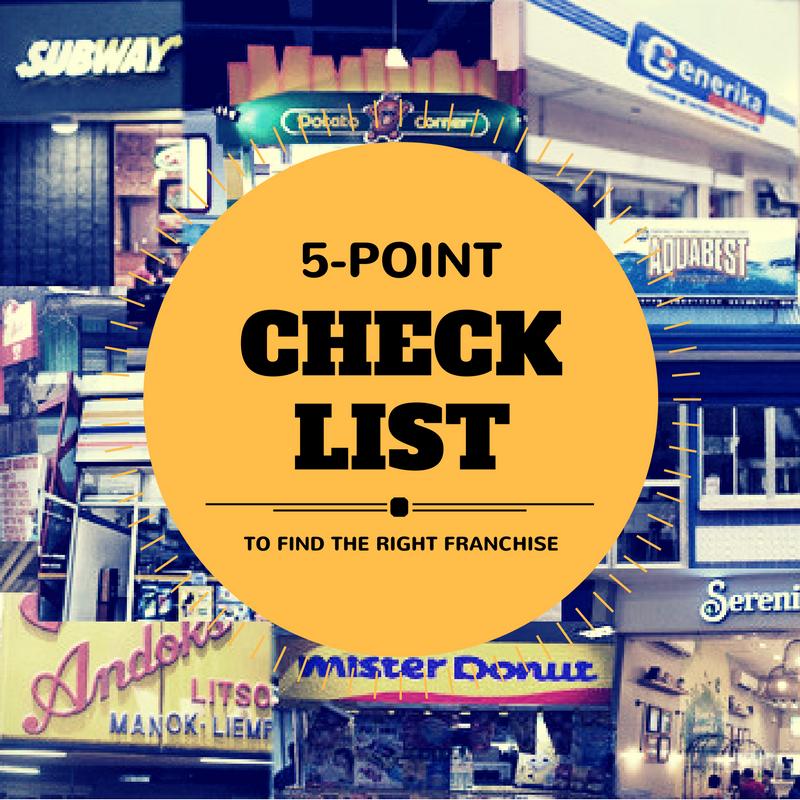 5 Point Franchising Checklist