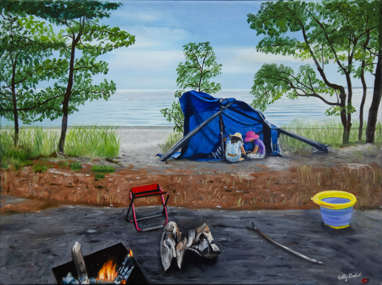 A Camping Day at the Beach