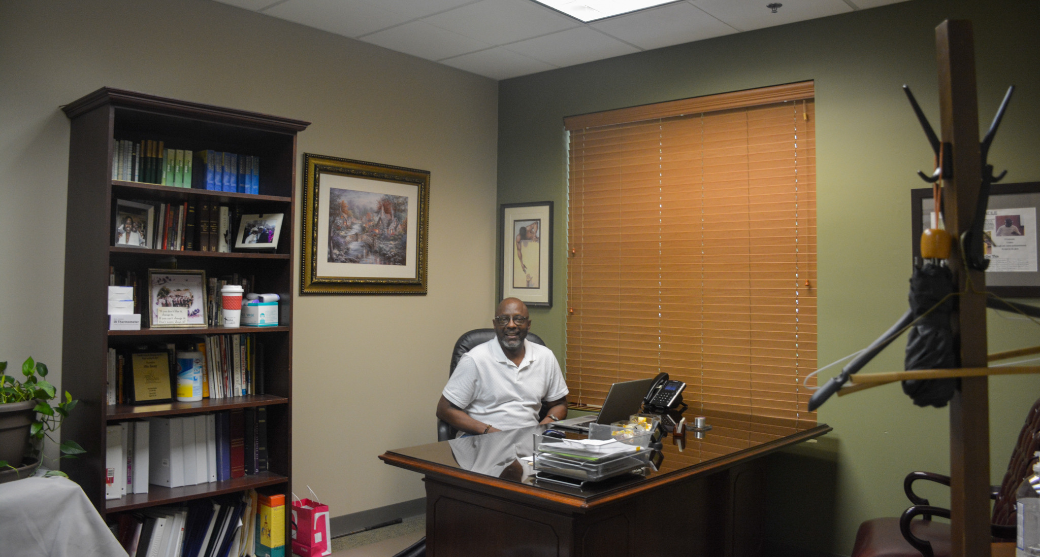 Director Obie Bussey in his office