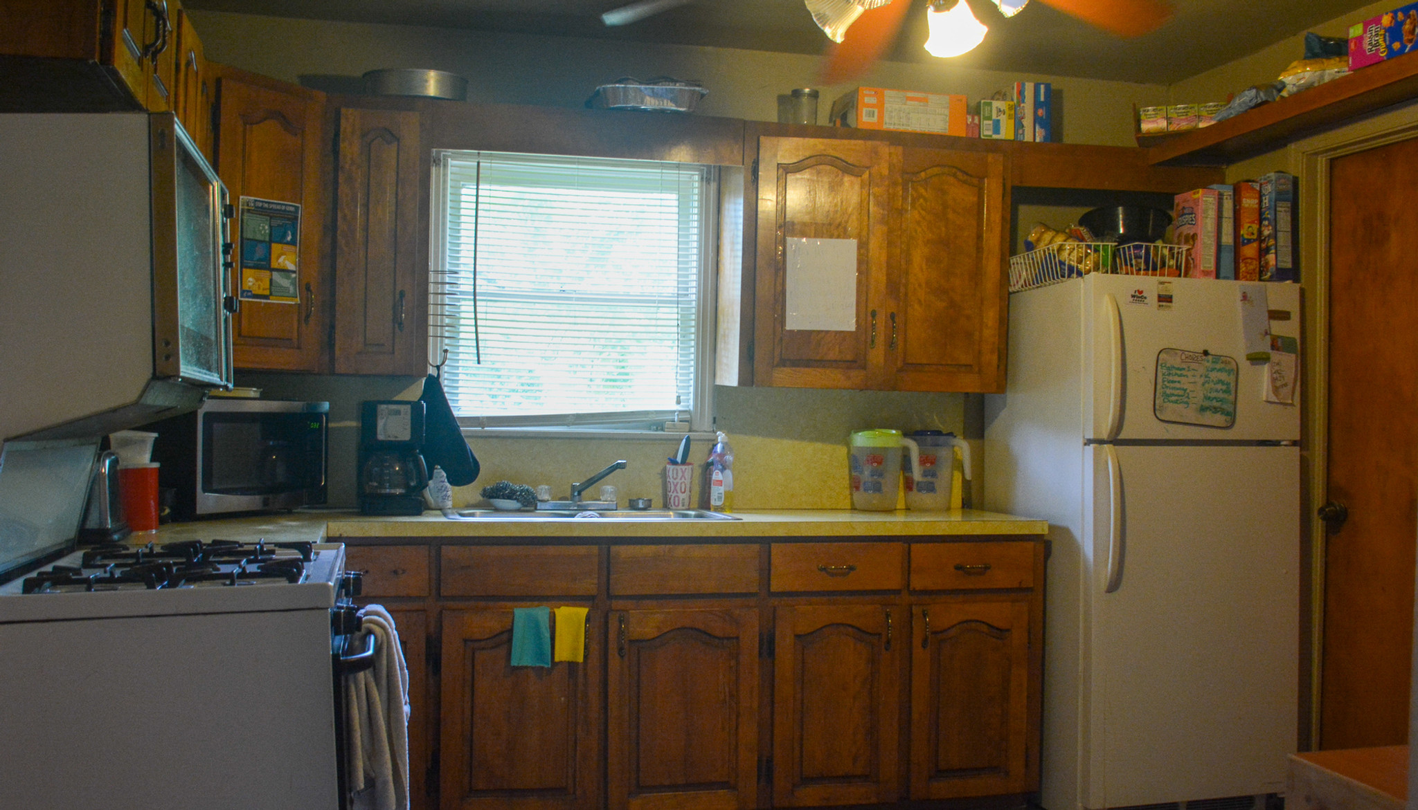 The kitchen in the Women's Adult Rehabilitation Ministry Home (WARM Home)