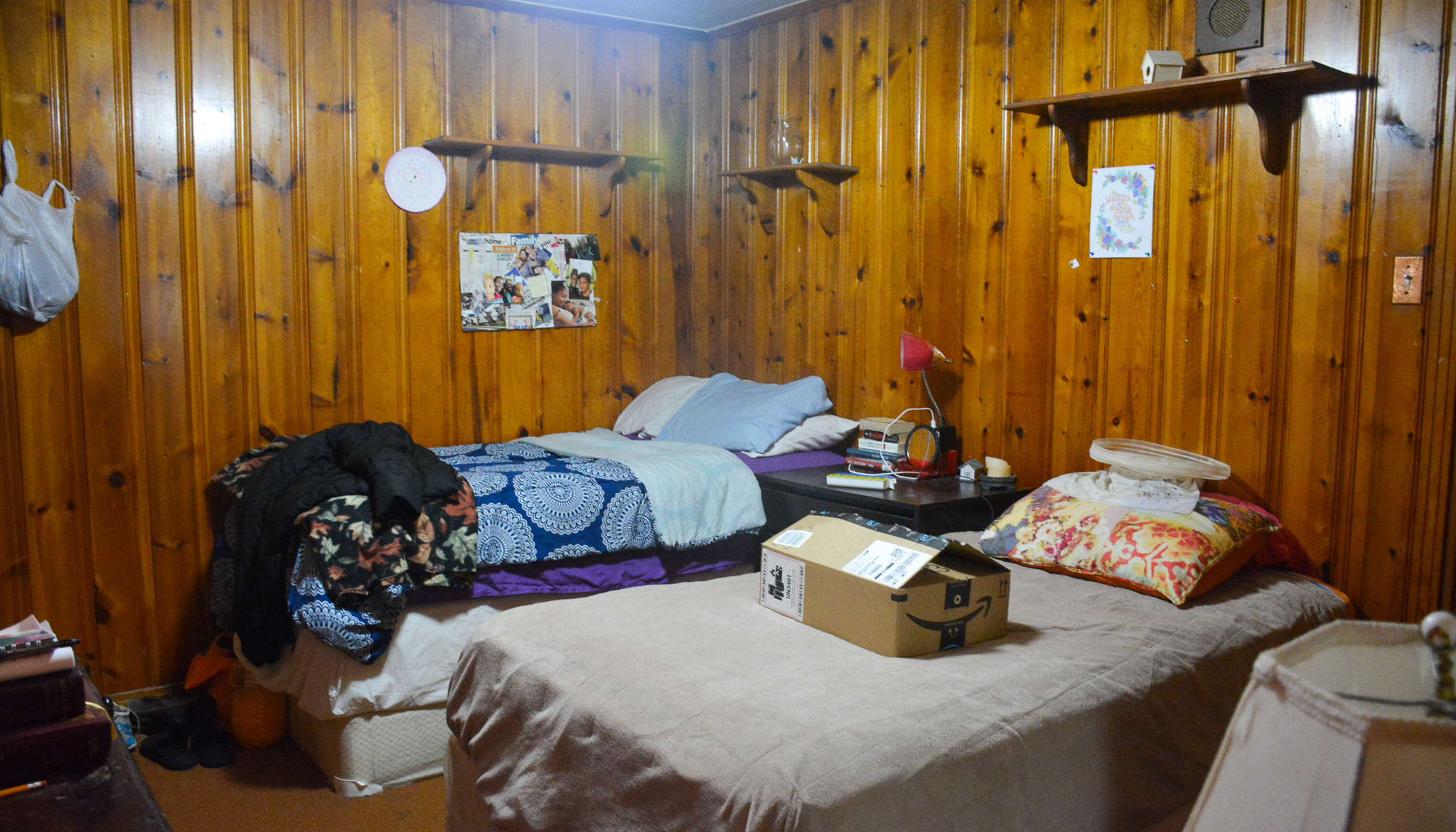 The third of of three bedrooms in the Women's Adult Rehabilitation Ministry Home (WARM Home)