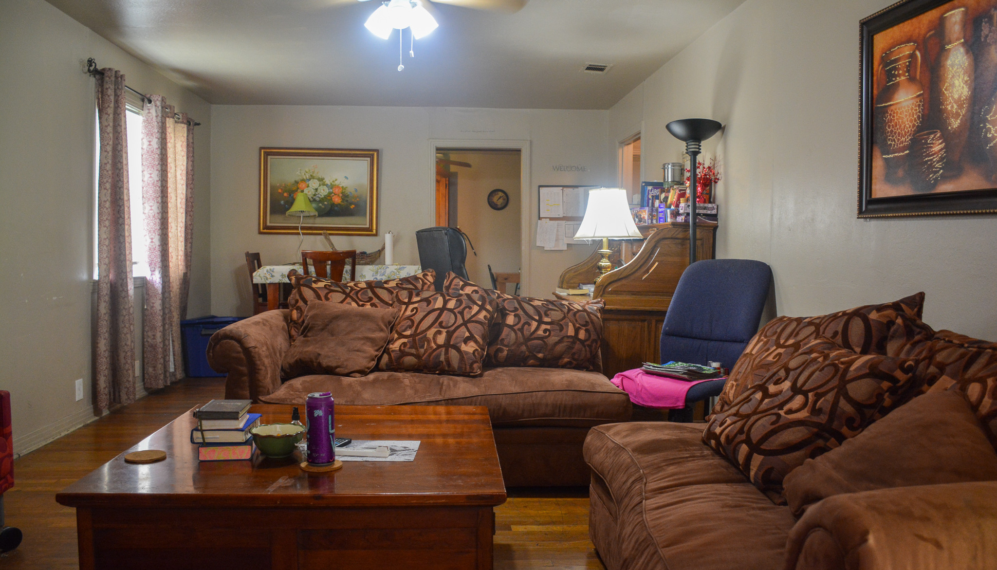The living room of Women's Adult Rehabilitation Ministry Home (WARM Home)