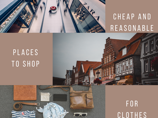 Cheap and Reasonable Places To Shop For Clothes