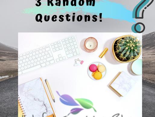 #SundayFunday! 3 Random Questions--- Helpfulinspiringblog
