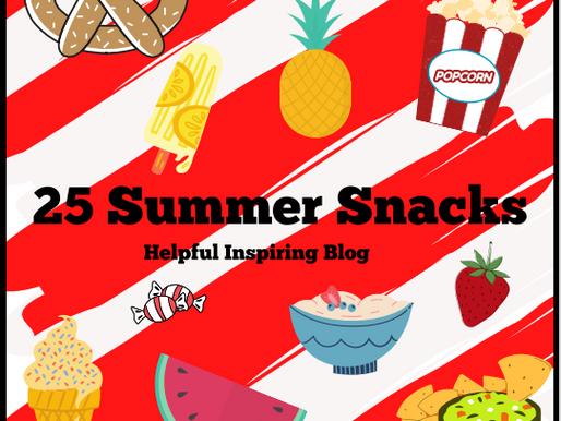 25 Summer Snacks