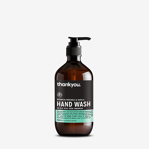 thankyou - Hand Wash -  Botanical Patchouli & Vanilla (500ml)