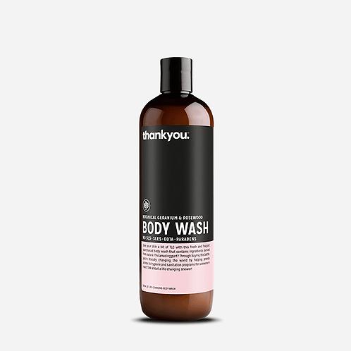 thank you - Body Wash (Botanical Geranium & Rosewood) - 500ml