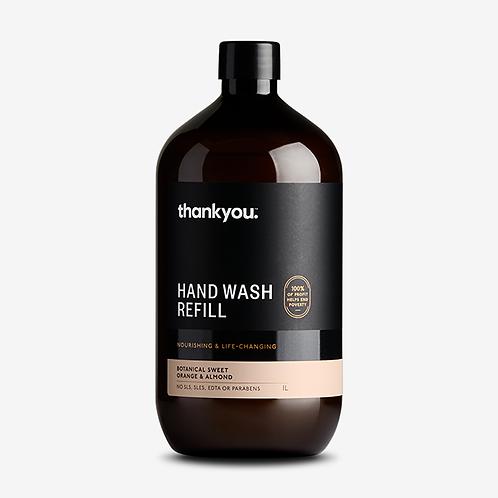 thankyou - Hand Wash - Refil - Botanical Sweet Orange & Almond - 1L